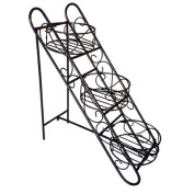 Pangaea Home and Garden Folding Iron Plant Stand with Three Baskets