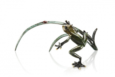 SPI Home Rainforest Frog with Ladybug Statue