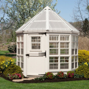 Little Cottage 2.44m x 2.44m Octagon Greenhouse with Floor Kit
