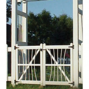 Dura-Trel Courtyard 0.91m Vinyl Arbour Gate Kit