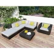 Sonax Park Terrace Textured Black Sectional Conversation Set