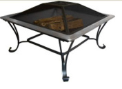 Asia DirectAD213-S 33 in. Square Stainless Fire Pit Set