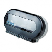 San Jamar SJMR4000TB Bath Tissue Dispenser- Jumbo- 19in.x5-.25in.x12in.- Black-Pearl