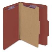 Smead Manufacturing Company Pressboard Classification Self Tab Folders, 10/Box
