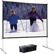 Da-Lite Deluxe Complete Fast-Fold Portable Front Projection Screen - 56 x 96'' - 111'' Diagonal - HDTV Format - 16:9 Aspect - DA-Mat