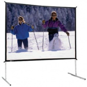 Da-Lite Deluxe Complete Fast-Fold Portable Front Projection Screen - 69 x 120'' - 133'' Diagonal - HDTV Format - 16:9 Aspect - DA-Mat