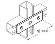 Morris Products 3 Hole Splice Plate