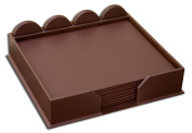 Dacasso D3452 Chocolate Brown Leather 23-Piece Conference Room Set