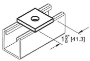 Morris Products 0.5'' Square Washer