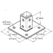 Morris Products 4 Hole 3.5'' Square Post Base Single Channel