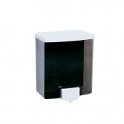 Bobrick Surface-Mounted Soap Dispenser in Black and Grey