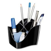 CEP Desktop Organiser,4 Compartments,1.4m x 0mx3-1.4m x 0mx3-1.4m x 0m,Black