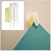 Advantus StikkiCLIPS, Plastic, White, 20/Pack