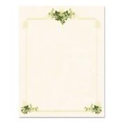 Design Paper, 11kg., Ivy Corners, 8-1/2 X 11, Tan, 100/Pack