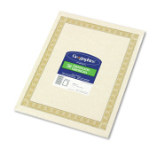Geographics Parchment Paper Certificates, 8-1/2 x 11, Natural Diplomat Border, 50/Pack
