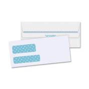Business Source Double Window Envelope - Double Window - #9 [23cm X 9.9cm ] - 11kg - Self-sealing - 500/box - White