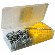 Morris Products 10'' x 1'' Super Yellow Anchor Kits Hex Head
