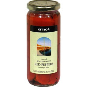Krinos Roasted Sweet Red Peppers, 1 lb