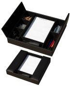 Dacasso A1090 Classic Black Leather Enhanced Conference Room Organiser