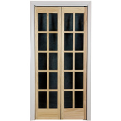 AWC Traditional Divided Light Glass 60cm x 200cm Bifold Door