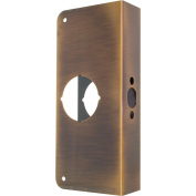 Prime-Line Door Reinforcer Entry 5.1cm - 0.3cm 7.6cm - 2.2cm W X 23cm H Antique Brass Solid Brass