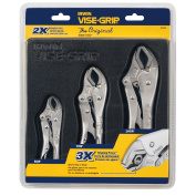 3Pc Locking Pliers Set 10Cr, 7Cr And 5Cr
