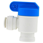 John Guest Usa Inc .38in. X .25in. NPFT Female Elbow Shut Off Valve PPSV501222WP