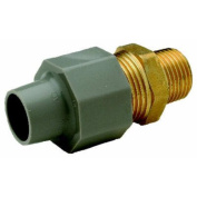Zurn Pex QBCA44MNG Pex Pipe Fitting, Compression Coupling, 3/4 Copper Tube x 1.9cm . MPT