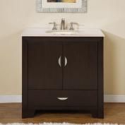 Silkroad Exclusive Ilene 36'' Single Sink Bathroom Vanity Cabinet