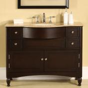 Silkroad Exclusive Addison 45'' Single Sink Bathroom Vanity Cabinet
