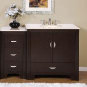 Silkroad Exclusive Ilene 54'' Single Sink Bathroom Vanity Cabinet