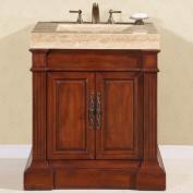 Silkroad Exclusive Stanton 33'' Single Sink Bathroom Vanity Cabinet