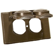 Morris Products One Gang Weatherproof Covers in Bronze for Horizontal Duplex Receptacle