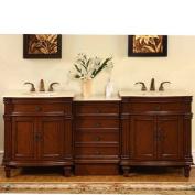 Silkroad Exclusive Sophia 80'' Double Sink Bathroom Vanity Cabinet