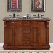 Silkroad Exclusive Monica 55'' Double Sink Bathroom Vanity Cabinet