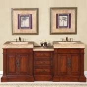 Silkroad Exclusive Stanton 83'' Double Sink Bathroom Vanity Cabinet