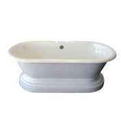 Barclay Cast Iron Double Roll Top Tub 170.2cm and Base Combination with 17.8cm Holes