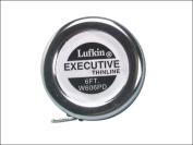 Lufkin Executive Diameter Tape Measure, 0.6cm x 6', Metal Case, Chrome, 0.1cm Graduation