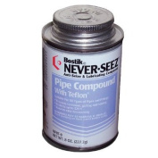 Never-Seez Pipe Compound With Teflon - 0.45kg brush top pipe compound w/teflon