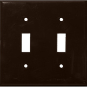 Morris Products 2 Gang Lexan Wall Plates for Toggle Switch in Brown