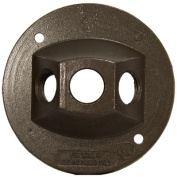 Morris Products 1.2m Round Weatherproof Covers in Bronze with Three Hole