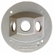 Morris Products 4'' Round Weatherproof Covers in Grey with Three Hole