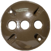 Morris Products 1.2m Round Weatherproof Covers in Bronze with 1.2m Three Hole