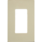 Morris Products 1 Gang Decorator Screwless Snap in Wall Plates in Ivory