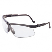 Uvex Genesis Safety Eyewear, Black Frame, Clear Lens