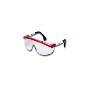 Uvex S1179 Red White and Blue Patriot Frame Safety Glasses with Grey Lens