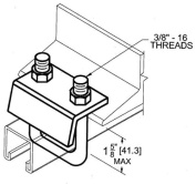 Morris Products Strut to Beam Clamp with Square U-Bolt for 0.81'' and 1.88'' Channel