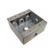 Morris Products Weatherproof Boxes in Grey with Outlet Holes