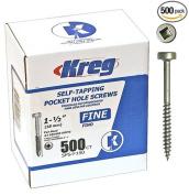 Kreg SPS-F150-500 Self-Tapping Wood Screw, NO 6 x 2.5cm - 1.3cm , Steel, Zinc Plated