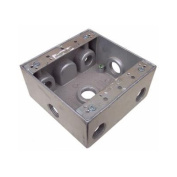 Morris Products 4.5'' x 4.5'' '' Weatherproof Boxes in Grey with 7 Outlet Holes